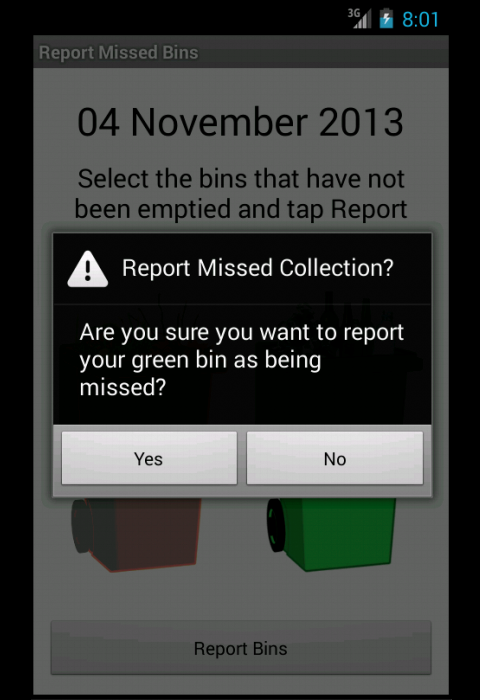 Tameside Bins- screenshot
