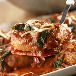 Skillet Pork Chops Florentine.