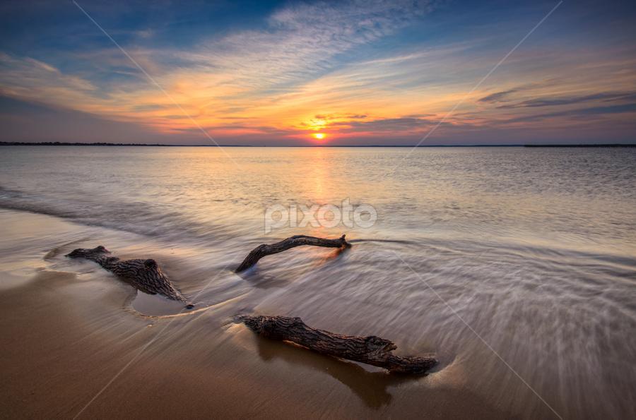 Take Me Down by Junel Corales - Landscapes Sunsets & Sunrises ( sunset, keansburg, seascape, nj, new jersey )