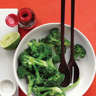 Steamed Broccoli With Lime Dressing.
