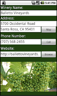 Sonoma County Winery Finder- screenshot thumbnail