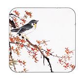 color inkwash wallpaper birds