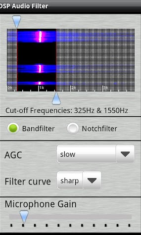 DSP Audio Filter Screenshot