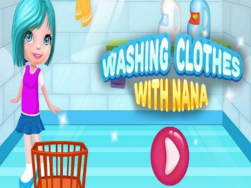 洗衣服遊戲的女孩