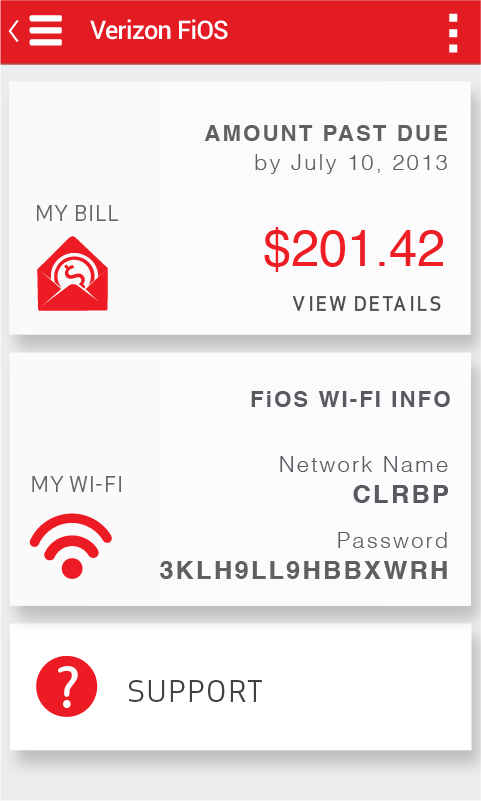 Verizon My FiOS - screenshot