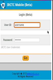 IRCTC Mobile Booking 2014