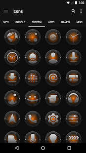 Black and Orange - Icon Pack- screenshot thumbnail