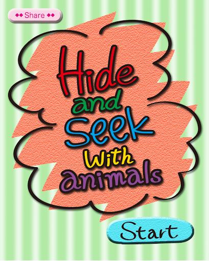 Hide Seek with animals[Kids]