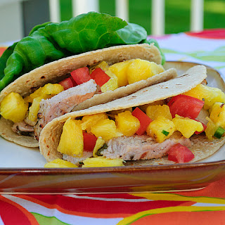 Grilled Pork Tacos with Pineapple Salsa.