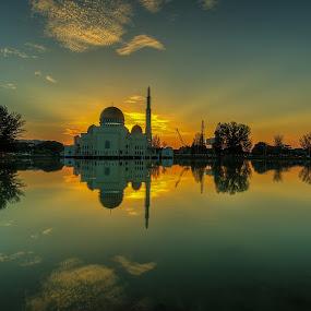 Masjid Assalam by Jali Razali - Landscapes Sunsets & Sunrises ( HDR, Landscapes,  )