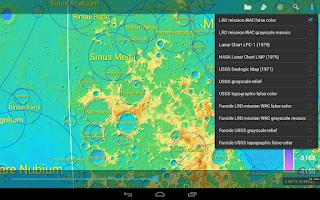 Screenshot of LunarMap HD