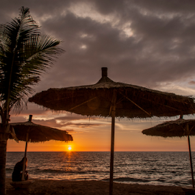 The Gambian sunset by Alex Barrow - Landscapes Sunsets & Sunrises ( sand, gambia, hdr, sunset, sea, beach, africa,  )