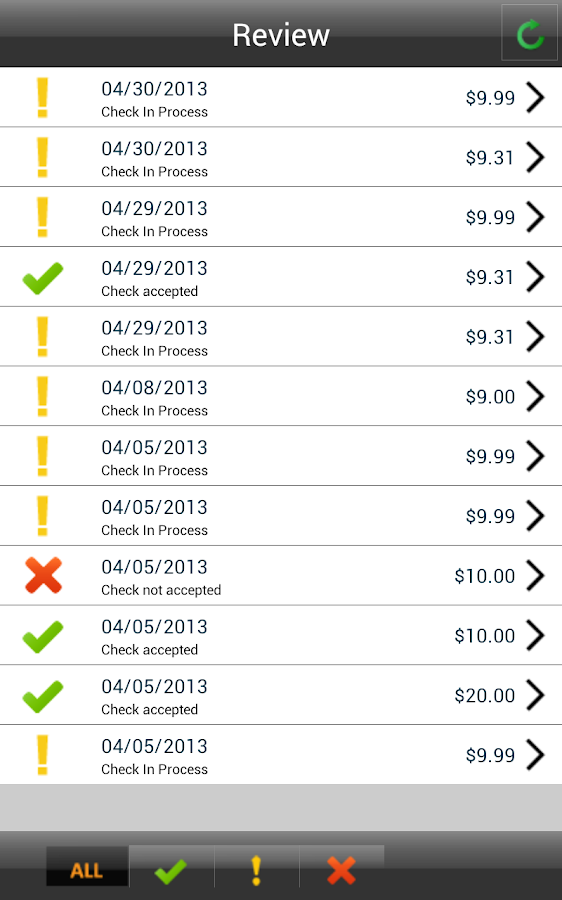 ACCU Remote Deposit - Mobile - screenshot