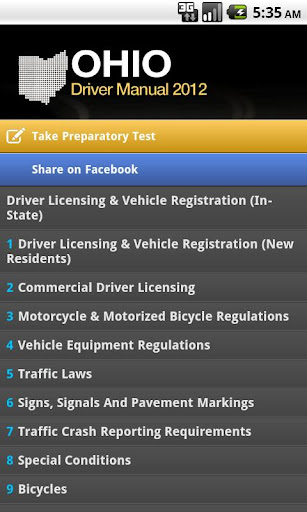 Ohio Driver Manual Free