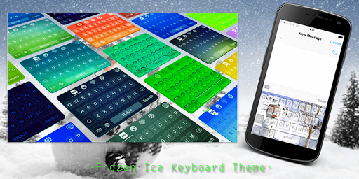Frozen Ice Keyboard Theme