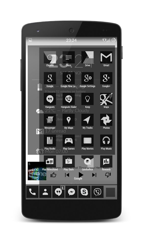 192C Black Icon Pack - screenshot