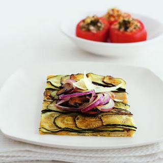 Zucchini-Mushroom Pizza