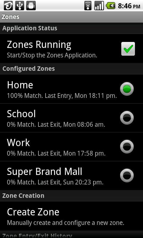Zones- screenshot