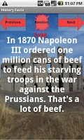 Screenshot of History Facts