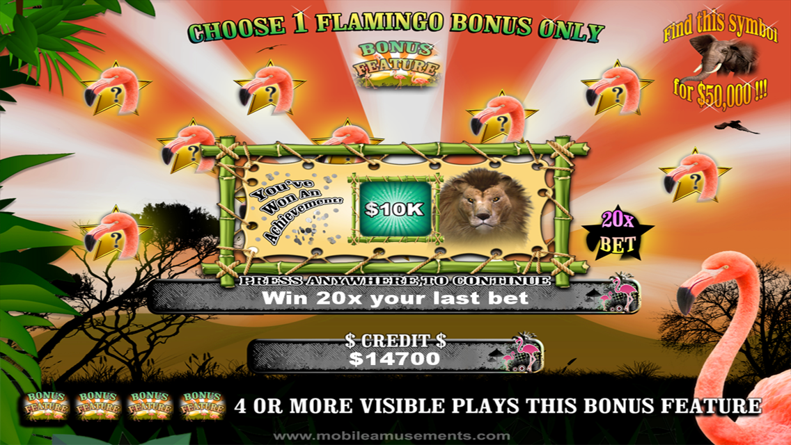 Flamingo Jungle Safari Slots- screenshot