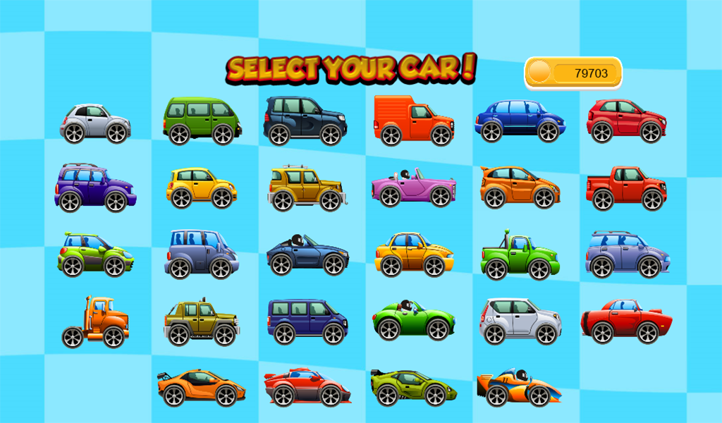 car racing game toddlers kids screenshot