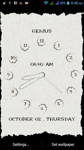 Color Paper Clock