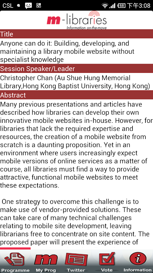 m-libraries Conference- screenshot
