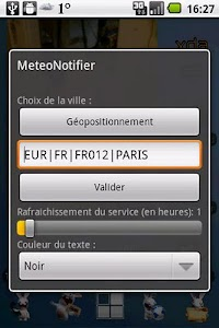 MeteoNotifier screenshot 2