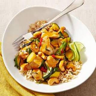 Thai Chicken Stir-Fry with Basil & Cashews.