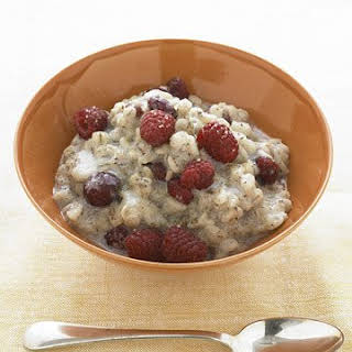 Warm Barley Cereal with Dried Cherries.