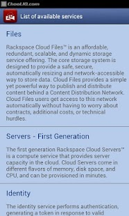 Manager for Rackspace LITE - screenshot thumbnail