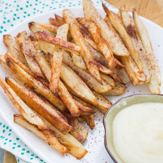 Sumac-Dusted Oven Fries with Garlic Spread