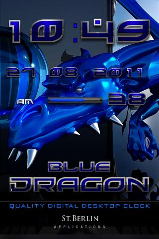 Blue Dragon digital Clock