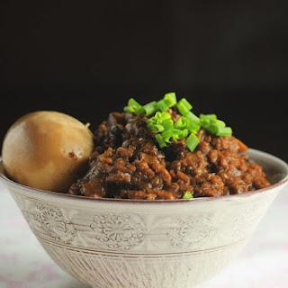 Braised Mushroom Meat Sauce 香菇卤肉燥.