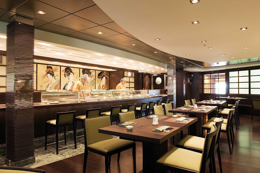 MSC-Poesia-Kaito-Sushi-Bar - One of MSC Poesia's must-try specialty restaurants is the elegantly Asian Kaito Sushi Bar.