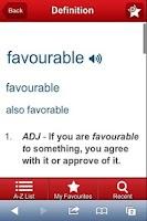 Screenshot of COBUILD Advanced Dictionary