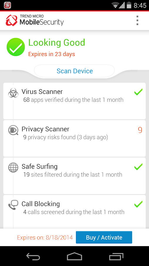 Mobile Security & Antivirus - screenshot