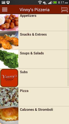 【免費生活App】Vinnys Pizzeria-APP點子