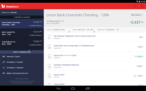 Union Bank Mobile Banking - screenshot thumbnail
