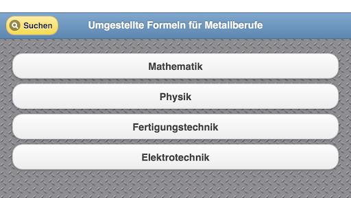 Umgestellte Formeln Metall