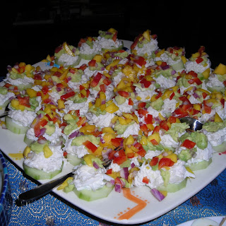 Mini Crab, Avocado, and Mango Stacks