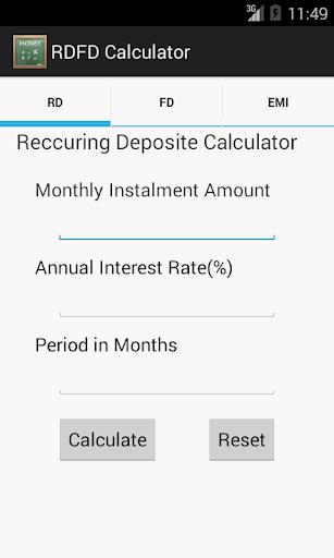 RDFD Calculator