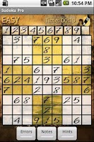 Screenshot of Sudoku X - Brain Training game