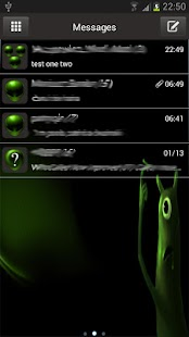 Alien Theme GO SMS- screenshot thumbnail