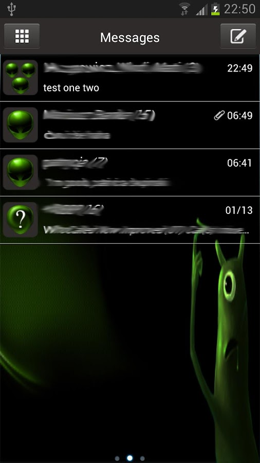 Alien Theme GO SMS- screenshot