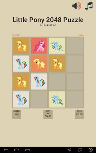 Little Pony 2048 Puzzle