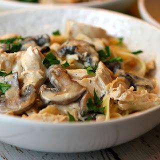 Chicken Mushroom Fettuccine.