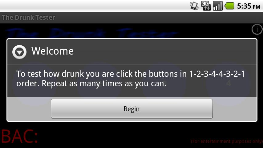 The Drunk Test Lite - screenshot