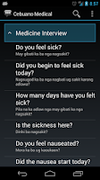Screenshot of Cebuano Medical Phrases