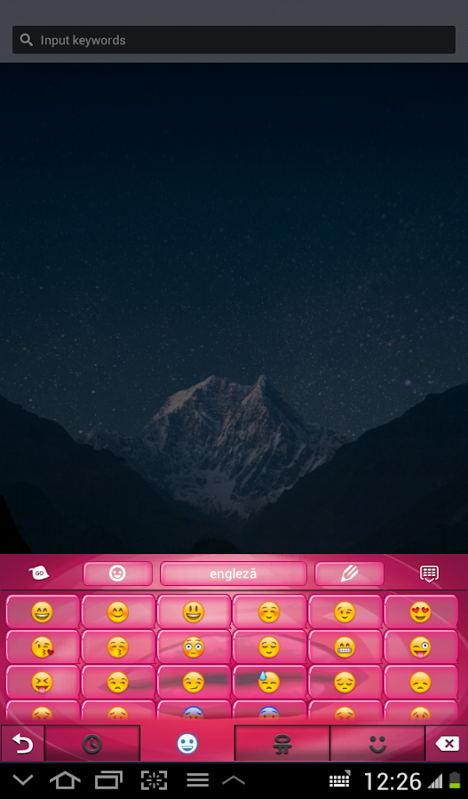 Purple Bubblegum Keyboard - screenshot